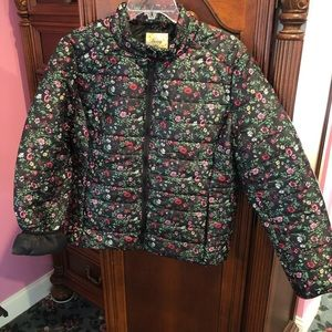 LN Comfy floral puffer coat made by Daisy size L